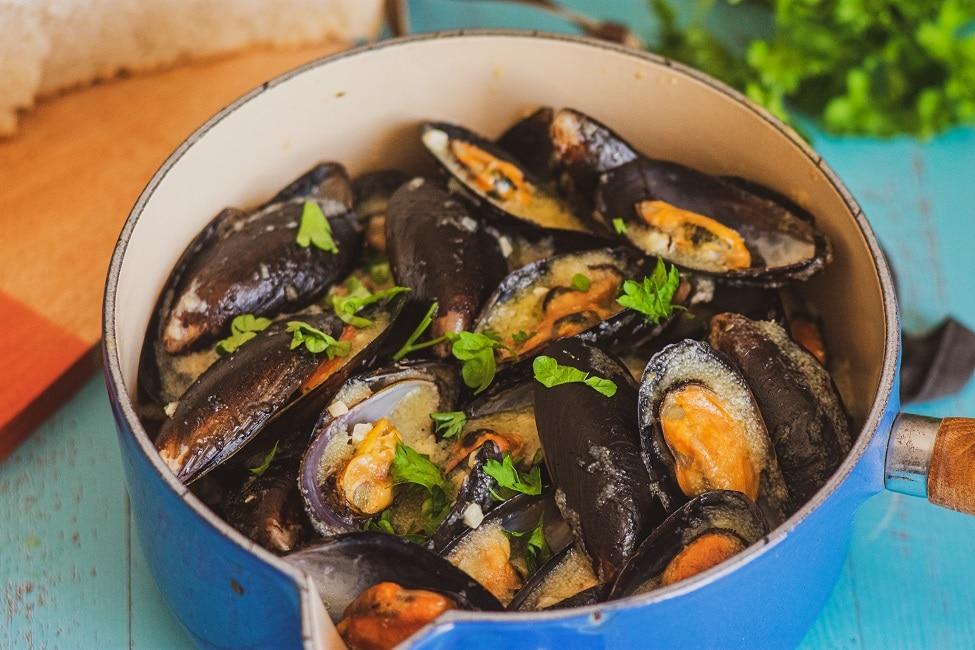 Buzara Mussels