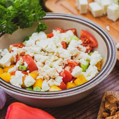Shopska Salad - Serbian Cuisine