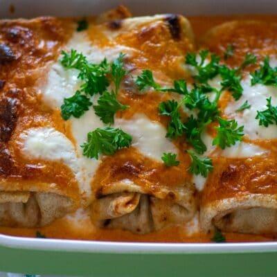 Hortobagyi Pancake - Traditional Hungarian Dish
